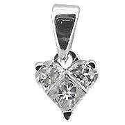 18K White Gold Diamond Heart Shape Pendant - You Save $1,539.41