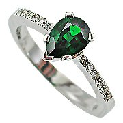 18K White Gold Emerald/Diamond Multi Stone Ring - You Save $2,404.02