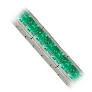 18K White Gold Emerald Tennis Bracelet - You Save $16,128.42