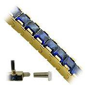 18K Yellow Gold Sapphire Tennis Bracelet - You Save $14,426.12