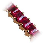 18K Yellow Gold Ruby Tennis Bracelet - You Save $23,373.01