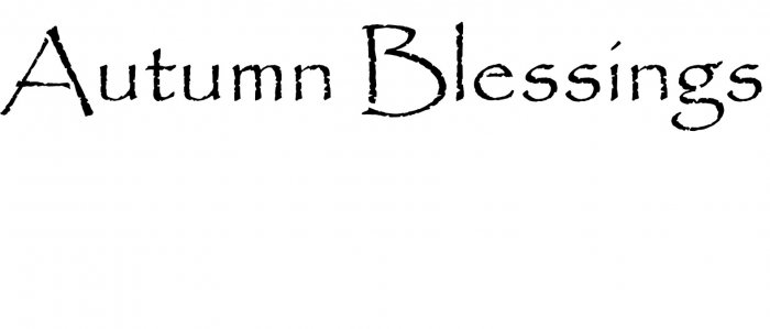 Sign Stencil Autumn Blessings