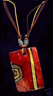 Samba Shell Necklace Handpainted Shell Necklace Hippie Retro Mod Necklace