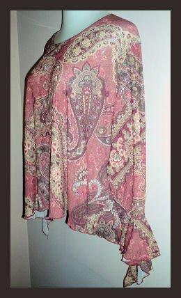 Rebecca Jones Hippie Shirt Fairy Sleeves Size 1X
