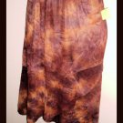 Coldwater Creek Brown Skirt Tye Dye Effect Two Toned Tiered Skirt Size PM