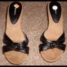 "Sandals Heel 4"" with Black Leather Straps Xhilaration Size 8 - 8 1/2"