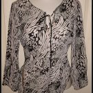 MILANO ASYMMETRICAL SHIRT BLACK WHITE SIZE MEDIUM