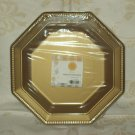 "11"" OCT. PLASTIC DINNER PLATE, 20CT. HANNA K. SIGNATURE gold"