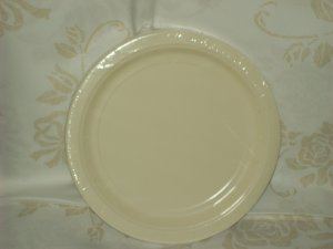 "9"" paper plate, ivory, 20ct, party dimensions, solids"
