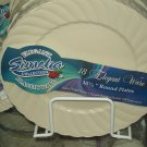 "Simcha Line Elegance 10"" dinner Plate. 18ct ivory-clear"