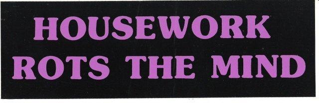 HOUSEWORK ROTS THE MIND Bumper Sticker