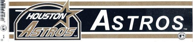 HOUSTON ASTROS Bumper Sticker