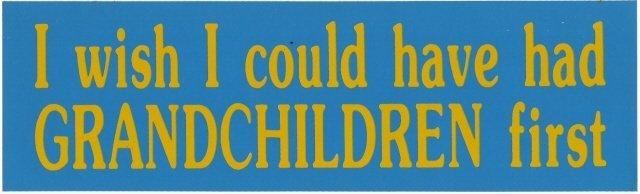 I wish I could have had GRANDCHILDREN first Bumper Sticker