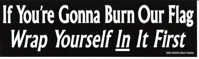 If You're Gonna Burn Our Flag Wrap Yourself In It First Bumper Sticker