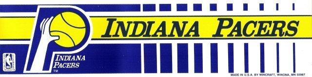 INDIANA PACERS Bumper Sticker
