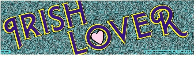 IRISH LOVER Bumper Sticker