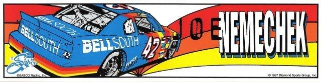 JOE NEMECHEK #42 Bumper Sticker