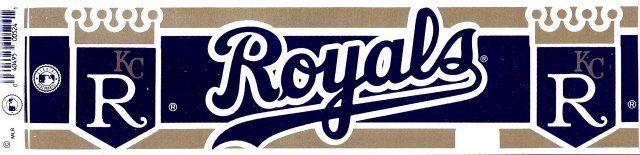 KANSAS CITY ROYALS Bumper Sticker