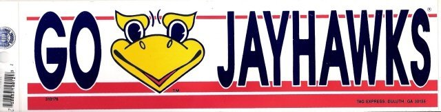 KANSAS JAYHAWKS Bumper Sticker