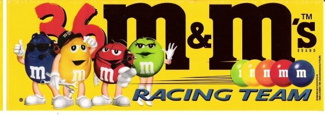 m&m's RACING TEAM #36 Bumper Sticker