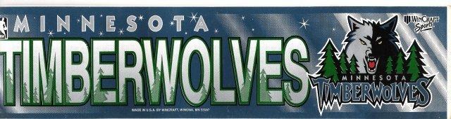 MINNESOTA TIMBERWOLVES Bumper Sticker