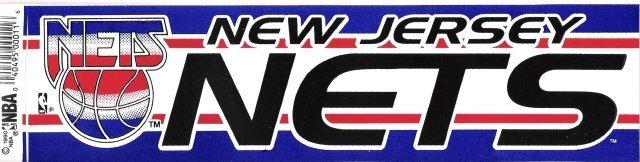 NEW JERSEY NETS Bumper Sticker