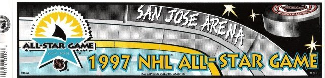 NHL ALL-STAR GAME 1997 Bumper Sticker