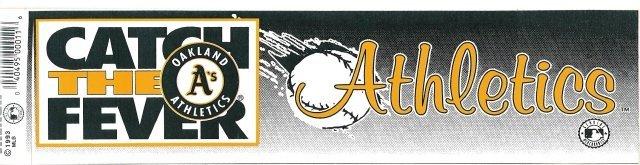 OAKLAND Athletics Bumper Sticker