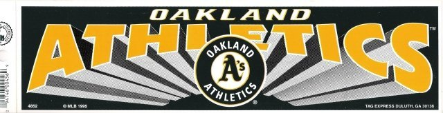 OAKLAND ATHLETICS Bumper Sticker