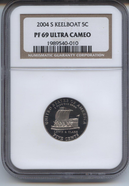 2004 proof 69 ultra cameo keelboat jefferson nickel