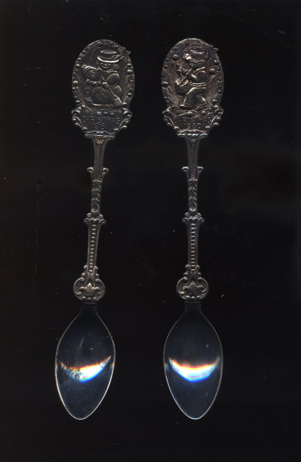 1980 & 1981 christmass collector spoons