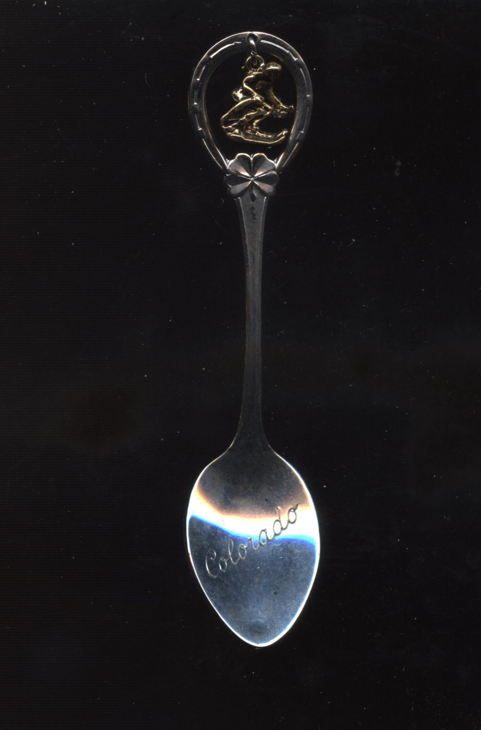 Colorado collector spoon with skiing charm