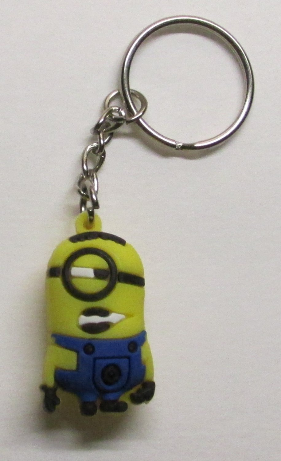 STUART the MINION Despicable Me Silicone Rubber KEY CHAIN Ring Keychain NEW