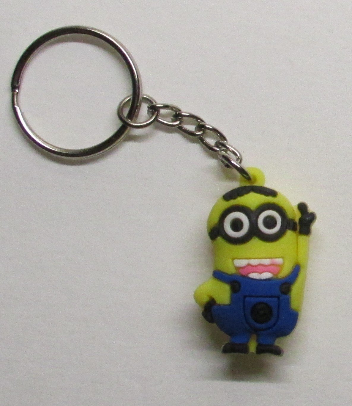 Waving DAVE the MINION Despicable Me Silicone Rubber KEY CHAIN Ring Keychain NEW