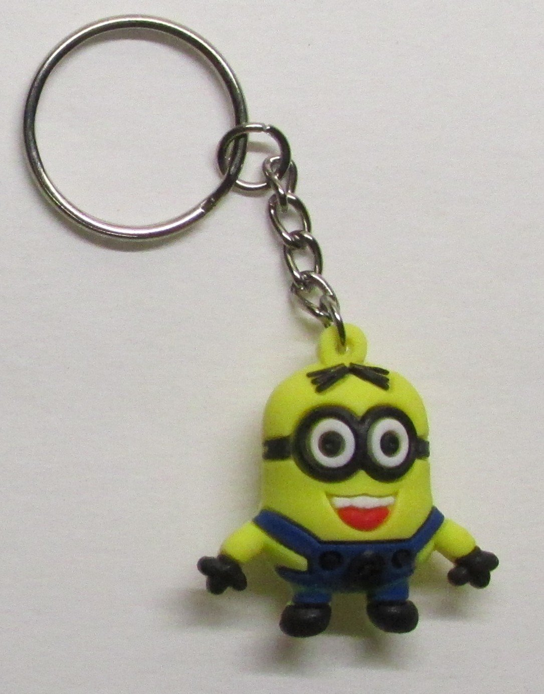 DAVE the MINION Despicable Me Silicone Rubber KEY CHAIN Ring Keychain NEW