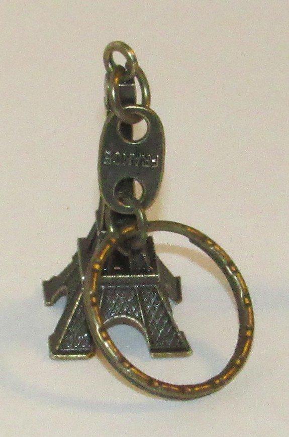 Bronze Color EIFEL TOWER Paris France KEY CHAIN Ring Keychain NEW