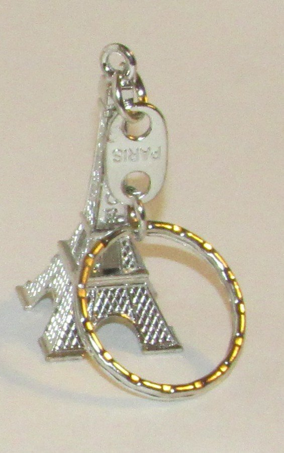 Silver Color EIFEL TOWER Paris France KEY CHAIN Ring Keychain NEW