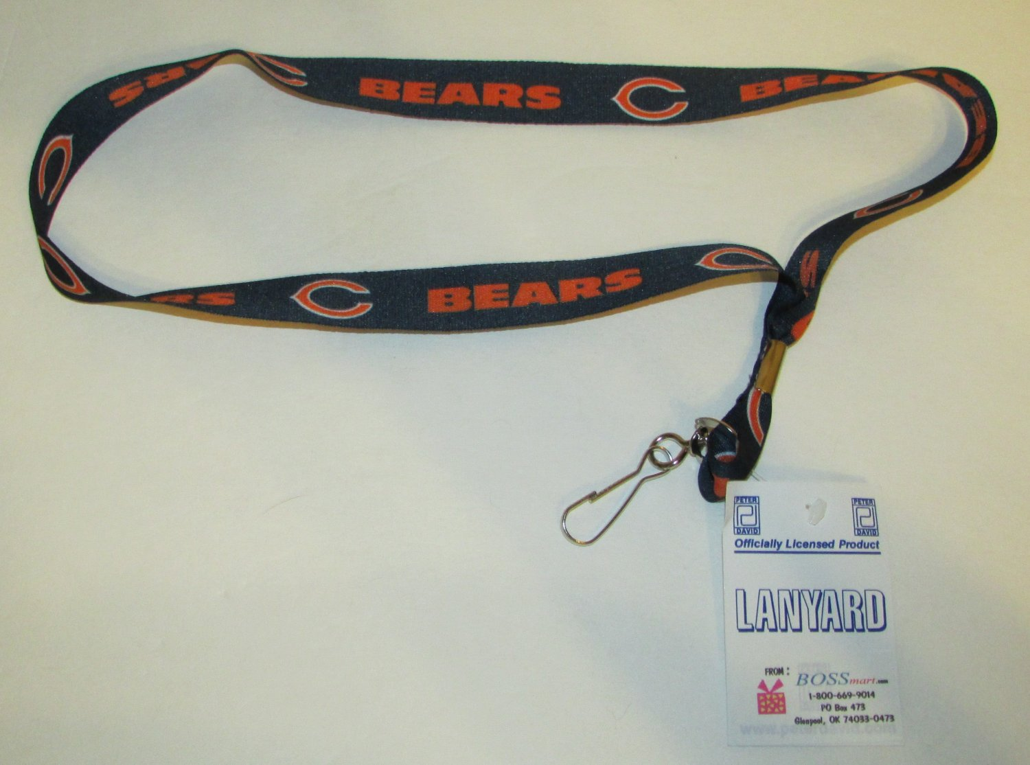 NFL CHICAGO BEARS Football Official Licensed Lanyard KEY CHAIN Ring Keychain NEW