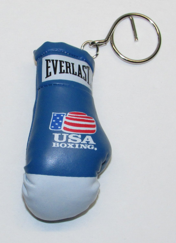 Everlast USA BOXING Glove Blue White KEY CHAIN Ring Keychain NEW
