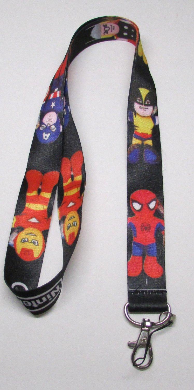 NINTENDO Superhero LANYARD KEY CHAIN Ring Keychain ID Holder NEW