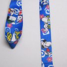 Peanuts SNOOPY Blue LANYARD KEY CHAIN Ring Keychain ID Holder NEW