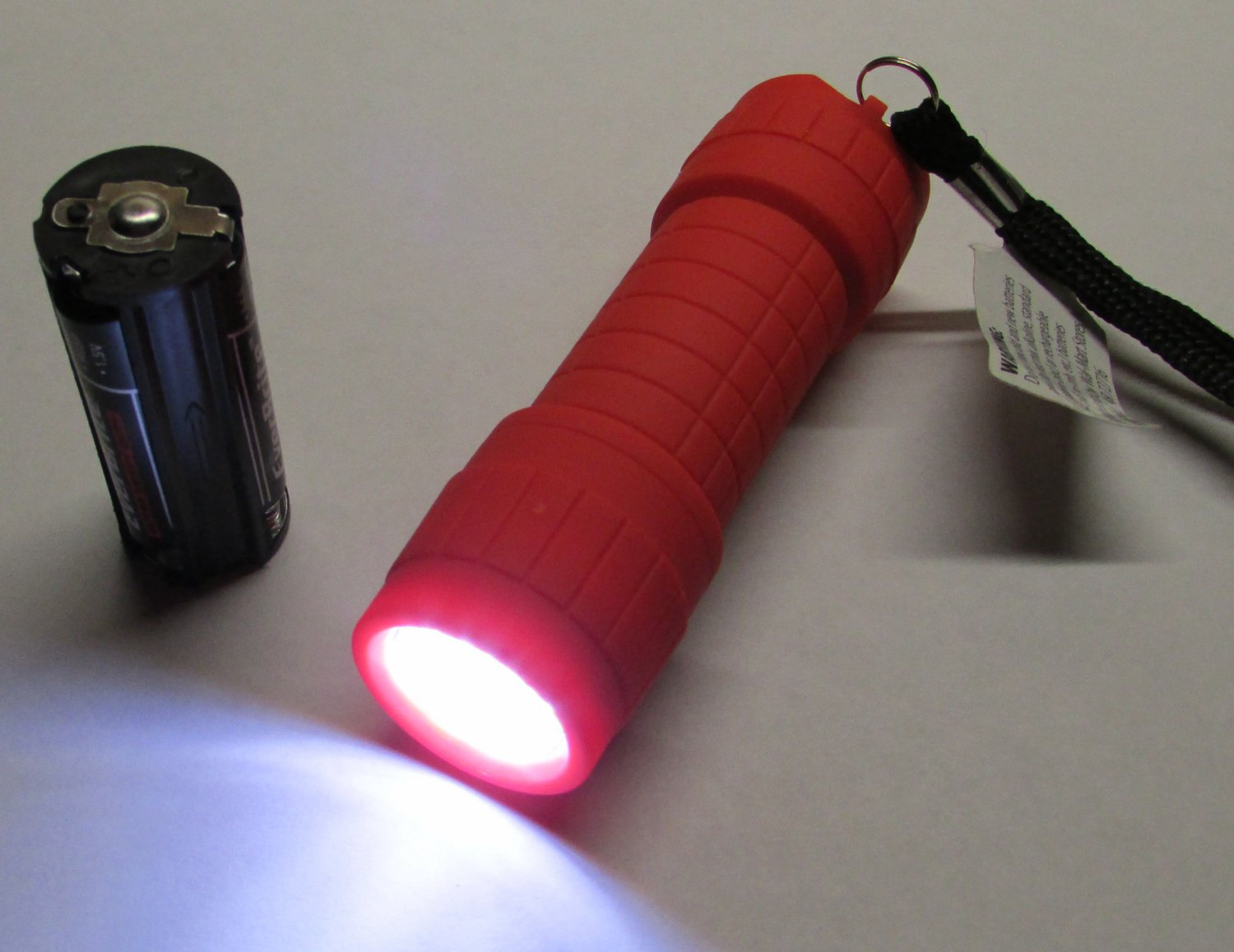 OU Red Color Ozark Trail 9 LED Mini Flashlight WITH Batteries NEW