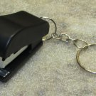 Mini Black STAPLER School Office for Paper KEY CHAIN Ring Keychain NEW