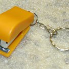 Mini Orange STAPLER School Office for Paper KEY CHAIN Ring Keychain NEW