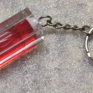 Acrylic Red LEVEL Mini KEY CHAIN Ring Keychain NEW