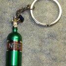 NOS Nitrous Oxide Systems Green Bottle KEY CHAIN Ring Keychain NEW