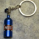 NOS Nitrous Oxide Systems Blue Bottle KEY CHAIN Ring Keychain NEW