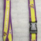 NBA Los Angeles Lakers Breakaway Disconnect LANYARD KEY CHAIN Ring Keychain ID NEW