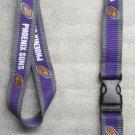 NBA Phoenix Suns Breakaway Disconnect LANYARD KEY CHAIN Ring Keychain ID Holder NEW