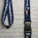 NFL New England Patriots Breakaway Disconnect Football LANYARD ID Key Holder NEW